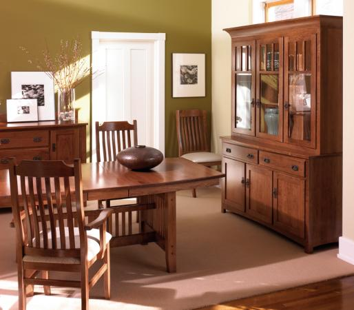 Dining room furniture mission shaker style sets dining tables ithaca ny - Mission style dining room furniture ...