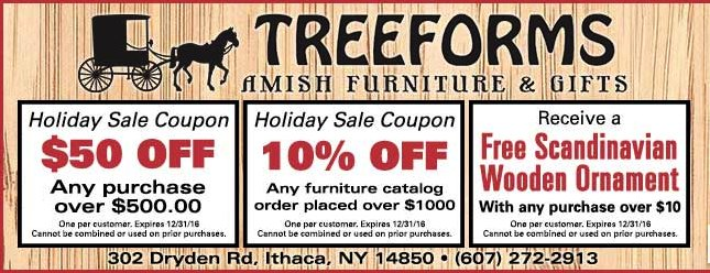 Tree Forms Holiday Coupon 2016